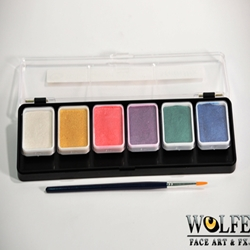 6 Color Face Paint Palette-Metallix
