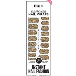 Nail Wraps - Glittering Gold