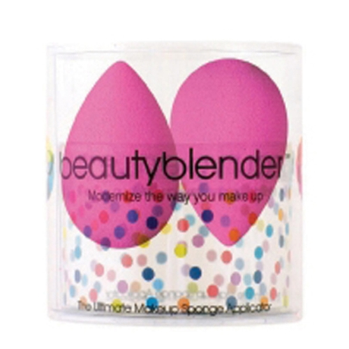 Two Pink Beauty Blenders In Canister