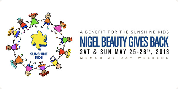 nigel beauty gives back - sunshine kids